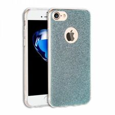 iPhone 7 Case,  Ultra Thin Sparkle Bling Glitter Case Cover (Blue)