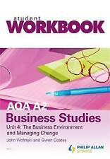 Good, AQA A2 Business Studies Workbook Unit 4: The business environment and mana