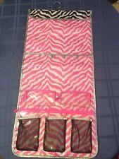 New Justice closet hanger organizer travel accessory pink and black zebra print