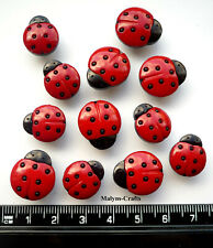 BLACK FURRY SPIDERS Craft Buttons Novelty Insect Garden Halloween Spooky