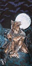 Alquimia Emo Gothic Lobos Garou Werewolf Calaveras murciélagos 100% Algodón, Toalla De Playa
