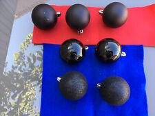 CHRISTMAS BAUBLES BLACK SET OF 7