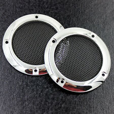 2X 2inch ABS SUBWOOFER SPEAKER TWEETER Coaxial Mesh Grille Cover Silver