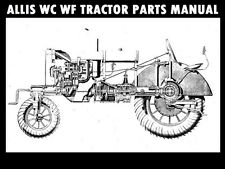 Allis Chalmers Wc Wf Tractor Parts Manual - 150pg for Ac Service & Repair
