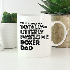 More details for boxer dog dad mug: funny cute gift for boxer owners! boxer dog lover gifts!