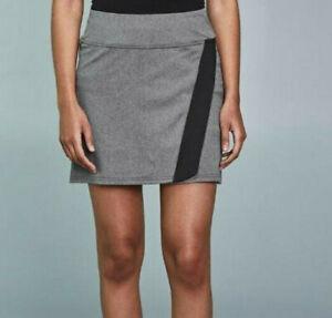 PEARL iZUMi XS 80$ Select Escape Gray Black Cycling Skirt Skort Phantom Heather