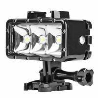 40m Waterproof 3LED Diving Fill Light Underwater Flashlight for Gopro Hero 7 6 5