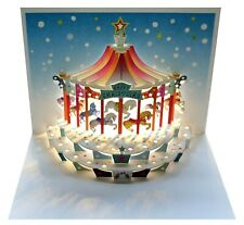 Laser Cut Pop Up Card - Christmas Carousel