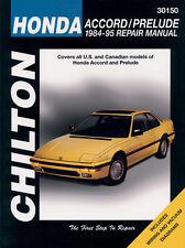 30150 CHILTON Repair SHOP Manual Honda Accord,Prelude 1984-95