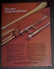 1982 original Ad KING Trombones musical instrument