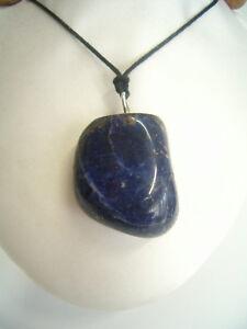 Ciondolo in ARGENTO 925 con SODALITE naturale - pendente girocollo Pietra Dura