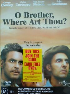 O Brother Where Art Thou DVD New/Sealed Freepost