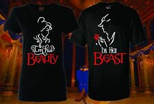MATCHING COUPLE HIS BEAUTY HER BEAST LOVE T-SHIRT COUPLES CUTE FUNNY TEE MOVIE