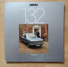 FIAT 132 2 LITRE orig 1977 UK Mkt Sales Brochure