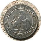 elf Spain 1 Centimo 1870