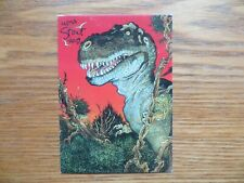 1993 WILLIAM STOUT COLLECTION T-REX PROMO CARD SIGNED WILLIAM STOUT ART,WITH POA