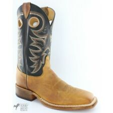 USA Made Justin Bent Rail Men's Caddo Brown Wide Square Toe Western Boot BR740 H