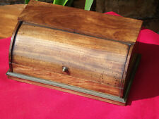 More details for late victorian miniature mahogany cylinder desk top inkwell