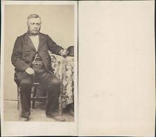 Portrait d'omme Vintage CDV albumen carte de visite CDV, tirage albumin