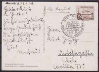 Dr Mi No. 657 Ef Abroad Artist Ak With Sst Stuttgart - Chile 1938