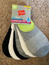 Hanes Women's Comfort Fit Invisible Liner Socks Mid Sport 6-Pack Shoe size 8 12