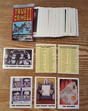 TRUE CRIME II COMP. SET 110C + 4 INSERT CARDS A,B,C,&D  Historical informational