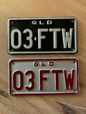 QLD Personalised MOTORCYCLE Number Plates 03 FTW