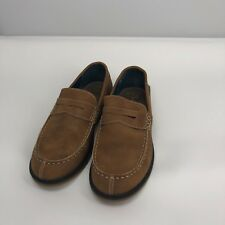 Boys Vince Camuto Bennett Faux Suede Tan Loafers Euc Size 5.5M