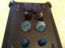 Four pair of vintage fashion jewelry pierced earrings.