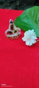 Indian Traditional Sterling Silver 925 Mukut For Lord Krishna Pure Silver-M2