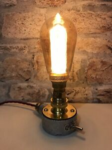 Desk Lamp Light Industrial Vintage Retro Steampunk Galvanised And Brass