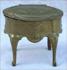 French Jewel Trinket Box Gilt Spelter Chest Louis XV Style 1880