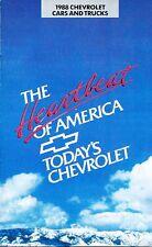 1988 Chevrolet Brochure Catalog - Camaro Caprice Corvette Cavalier Truck Van