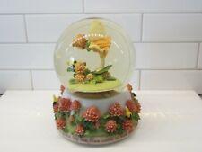 San Francisco Music Box Co Red Clover Fairy Flower Fairies Musical Snow Globe