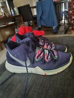Mens Blue & Silver Nike Air Kyrie Flytrap Basketball Shoes Size 13