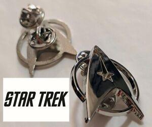 Star Trek Logo Metal Pin brooch Chrome color Collectible gift decor cosplay USA