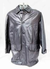 "Men's Black Vintage 'Burberrys' Supple Leather Jacket Coat UK 44"" Lot JS15"