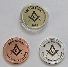 Custom Masonic Coin / Token - Free Laser Engraving Personalization