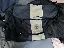 Timberland Black And Cream Large Canvas Travel Bag