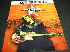 Bryan Adams is Coming On June 4 with 18 Til I Die original 1996 Promo Poster Ad