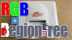 PC Engine RGB Audio Dual Amp Region Free Jailbar fix compatible SegaSaturn Csync
