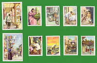 SINGAPORE CHINESE COMMUNITY WEALTHY TRADE LIFE SCENES POSTER STAMPS  NESTLE