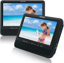 """WONNIE 7.5"""" Inch Dual Portable DVD Player for Car, Two Screens (play same movies"""