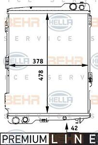 BEHR/MAHLE RADIATOR Fits AUDI 80/90 2.3E 88-93 8MK376711281,8MK 376 711-281