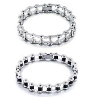 Fashion Unisex Stainless Steel Bangle Motorcycle Biker Chain Wristband Bracelet