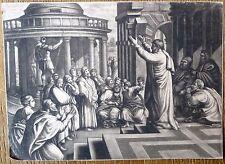 Manière noire d'après Raphaël, Discours de Saint Jean