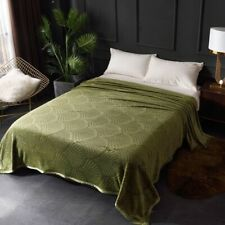 Embossed Flannel Fleece Blankets and Throws Super Blanket Beds Bed Cover Plaids