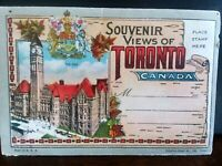 VINTAGE- SOUVENIR POST CARD - FOLDER TORONTO CANADA - Post Card Fold Out 1930's
