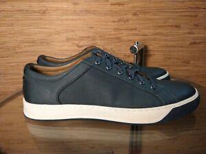 JOHNSTON & MURPHY 1850 Allister Mens Navy Blue Leather Fashion Sneaker 11.5 US