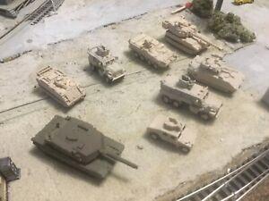 N scale Modern Army Military Vehicles Sampler Set 3D Printed